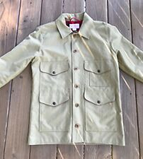 Filson Dry Tin Cloth Flannel lined Cruiser Jacket Size Small