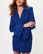 Missguided blue or black frill sleeve blazer dress (M5/16)