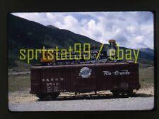 1964 Silverton Narrow Gauge Museum Entrance Sign - Vtg 35mm Railroad Slide