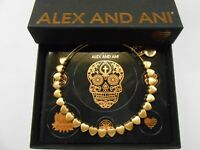 Alex and Ani Heart Beaded Rafaelian Gold NWTBC