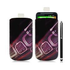 Housse coque étui pochette pour HTC Desire HD avec motif HF07 + Stylet luxe