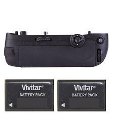 Vivitar MB-D15 Power Battery Grip for Nikon D7100 D7200 + 2 ENEL15 Batteries