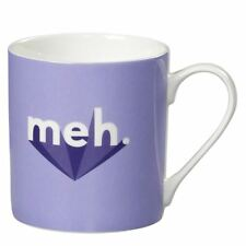 New Wild & Wolf Yes Studio Meh Purple Bone China Mug Gift Boxed 400ml Coffee Cup