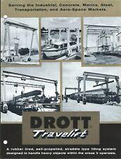 Equipment Brochure - Drott - Travelift - Boat Trailer Cargo Lift c1963 (E5150)