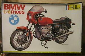 MAQUETTE MOTO  1/8 HELLER BMW R 100 S NEUVE EN BOITE NOIRE 1978