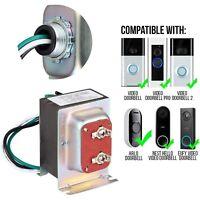 Ring Doorbell Transformer 16V 30VA - Power Supply for Video Doorbell 1, 2, Pro