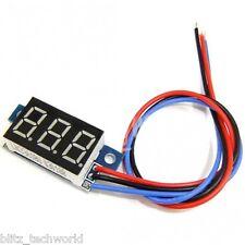 Digital LED Voltmeter Panel Volt DC 0-200V Voltage Meter (Blue)