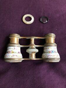 Antique Opera Glasses Lemaire Enamel MOP (For Parts)