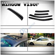 5pcs Combo Smoke Vent Shade Side Window+Sun/Moon Roof Visors Fit 04-08 Acura TL