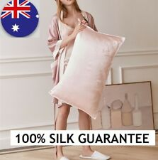 Luxury Soft 100% Mulberry Silk Pillow Case 25Momme Slip Pink Beauty Care Kids