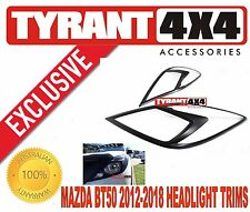 Mazda BT50 2012 2013 2014 2015 2016 2017 Black Headlight Headlamp Covers Trims