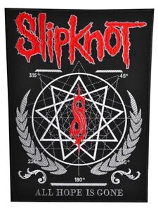 Slipknot All Hope is Gone Back Patch Heavy Metal Band