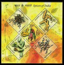 Spices, Herbal Medicine, Clove, turmeric, cardamom, India 2009 MNH SS