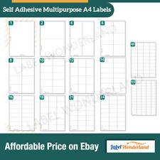 Labels Self Adhesive Sticky White A4 Address Labels For Inkjet Laser Printer