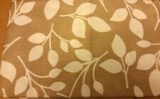 "Printed Fabric Tablecloth 60""x104"" OBLONG (8-10 ppl) WHITE FLOWERS on BRONZ"