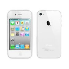 Custodia Cover Case per Apple iphone 4 4S in silicone trasparente e retro opaco