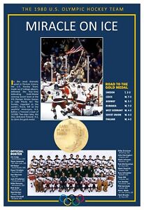 THE 1980 'MIRACLE ON ICE' U.S. OLYMPIC HOCKEY TEAM COMMEMORATIVE POSTER