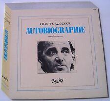 CHARLES AZNAVOUR . AUTOBIOGRAPHIE  . LP