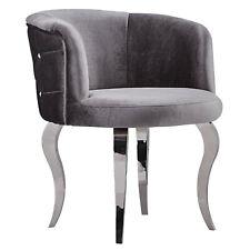 barock Stuhl Sessel Barockstuhl Barocksessel Glamour Sitzmöbel Grey