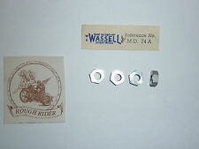 """Triumph Tiger Cub """"Dural"""" Tappet Adjuster Nut Set  """"Made in England"""" Wassell"""