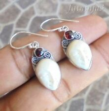 Hook Bone Sterling Silver Handcrafted Earrings