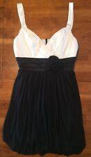 Pompous Girly Womens Bubble Mini Dress Size Medium Black White EUC