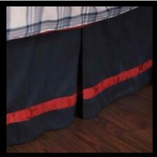 English Laundry Stockport Bed Skirt Navy Red NEW NWT Size Queen