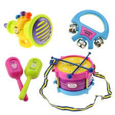 UN3F 5pcs Kids Roll Drum Musical Instruments Band Kit Children Toy Gift Set