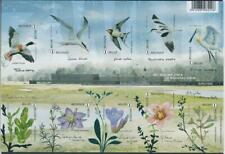 [G10908] Belgium 2016 birds-flora sheet very fine imperforate. No gum as issued