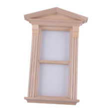 Puppenhaus DIY Viktorianisch Einzel Fenster Miniatur Handwerker Für 1:12 Holz