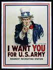 I WANT YOU FOR US ARMY ✯ CineMasterpieces 1917 WW1 ORIGINAL UNCLE SAM POSTER