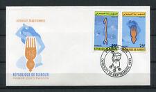 Djibouti 1993 Mi. 588-589 Peigne coiffure objets FDC Premier Jour