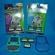 LeapFrog Quantum Leap iQuest Lot Handheld System With New & used Cartridges