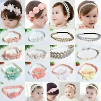 Kids Girls Baby Headband Bow Flower Hair Band Accessories Headwear Elastic