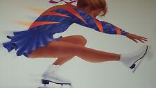 1994 LILLEHAMMER WINTER OLYMPICS CBS POSTER SKATING