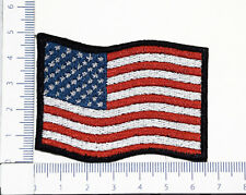 US USA U.S. FLAG 01 patriotic embroidered patch, thermal glue on the back