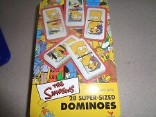 THE SIMPSONS ~ 28 SUPER-SIZED DOMINOES ~ TIN CASE