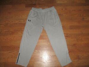 Mens Under Armour Tech Grey Training Running Sweat Pants Loose Sz. 2XL