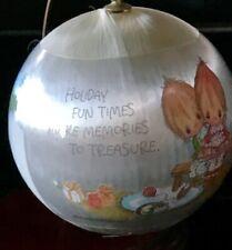 Vintage Christmas 1979 Hallmark Betsey Clark Tree Trimmer Satin Ball Ornament