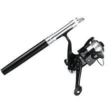 Mini Portable Pocket Fish Pen Shape Aluminum Alloy Fishing Rod Pole+Fishing Reel