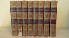 """c1840 """"PICTORIAL EDITION OF SHAKESPEARE"""" 8 VOLS - FULL LEATHER BINDING ed KNIGHT"""