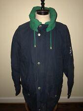 Navy & Green NAUTICA COAT Jacket With Hood