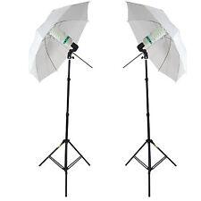 DynaSun 2x W985K Kit d'éclairage Trépied Ampoule DayLgt Douille Parapluie Studio