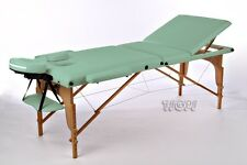 Green Portable massage Table Beauty Therapy Salon Bed Couch with Carry Bag