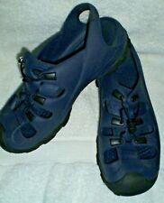 Crocs ladies/men's navy slip on/bungee lace shoes/sandals, M 10, W 12 waterproof