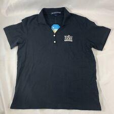 Whole Foods Market Sz M Black Short Sleeve Pique Knit V Neck Golf Polo Shirt