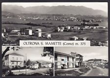 COMO OLTRONA DI SAN MAMETTE 03 VEDUTINE Cartolina FOTOGRAFICA viaggiata 1958