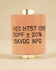 Factory New High Energy HT57Y500MA  50 Pf 15KV Ceramic Doorknob Capacitor Ham