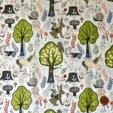 ENCHANTED FORREST CREAM BY LEWIS & IRENE - COTTON FABRIC FQ'S