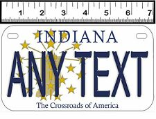 PERSONALIZED ALUMINUM MOTORCYCLE STATE LICENSE PLATE-INDIANA 1998